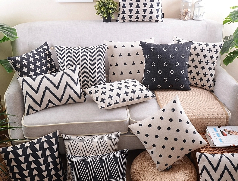 Geometric Chevron Stripe Triangles Polka Dot Cross Cushion Covers Nordic  Minimalism Pillow Cover Sofa Linen Cotton Pillow Case In Cushion Cover From  Home ...