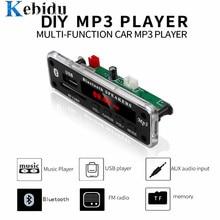 Автомобильный Bluetooth MP3 WMA FM AUX декодер Kebidu, плата постоянного тока 5 в 12 В, плата, аудио модуль, SD-карта, USB радио, автомобильный MP3 динамик