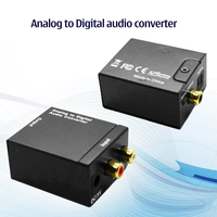 Analog To Digital Audio RCA Optical Coaxial Converter Adapter Free Shipping