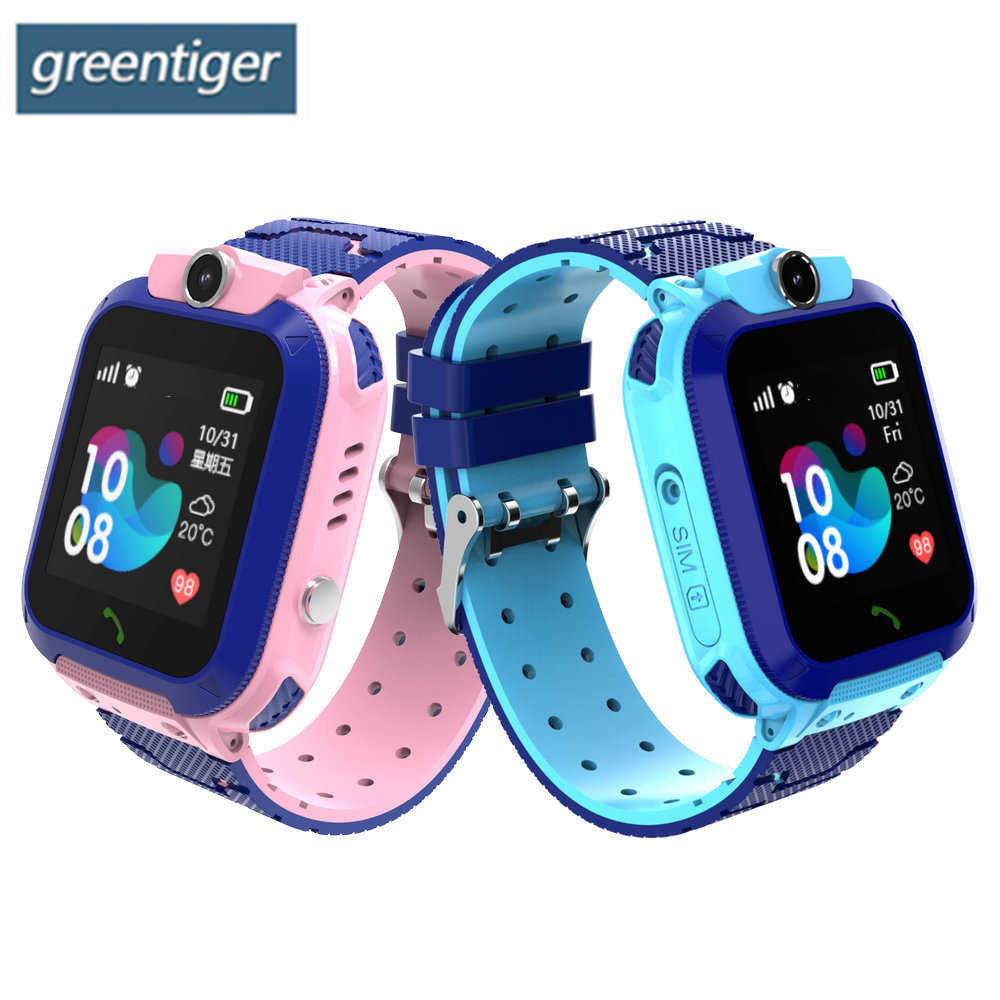 Greentiger GPS Kids Smart Watch IP67 Waterproof Baby Clock SOS Call Location Locator Tracker Anti Lost Monitor Camera Watch