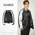 Aolamegs Baseball Jacket Men Women Patchwork Design Fashion Vintage Couples Baseball Uniform Top Quality Outerwear GD Clothing