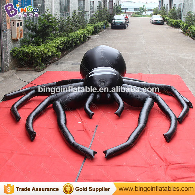 Decorative 5m Giant Inflatable Spider Model For Party Hot Up Black