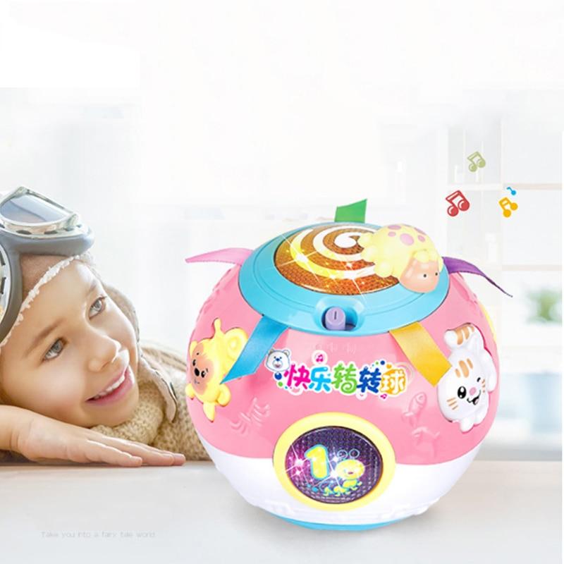 Brinquedos do bebê virar bola brinquedos musicais 13-24 meses eletrônico brinquedos de bola musical macio brinquedos educativos adiantados para crianças