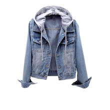 Women Short Denim Jacket 2019 Spring New Slim Hooded Jacket Student Jacket Fashion Female Clothing new arrival offical nike women jacket spring breathable hooded sports jacket
