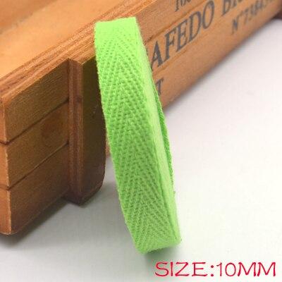Новые цветные 10 мм шеврон хлопок ленты тесьма сельдь bonebinding ленты кружева обрезки для упаковки аксессуары DIY - Цвет: green 207