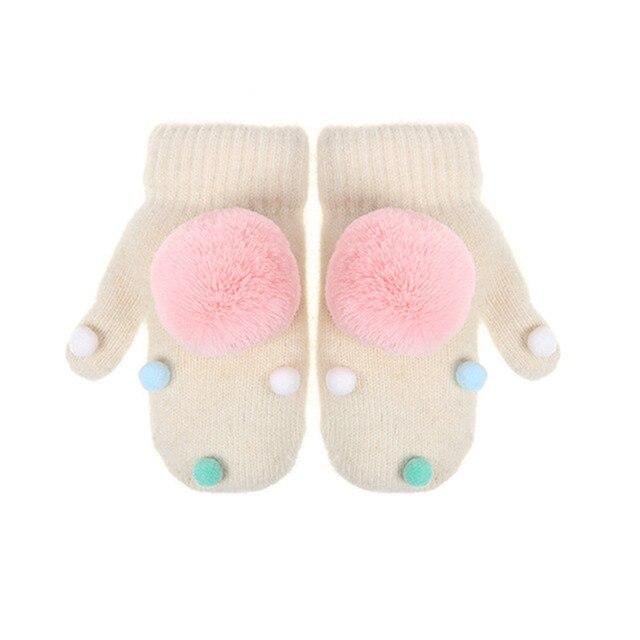 Peluche lindo guante nieve bola de peluche decoración de los niños ...