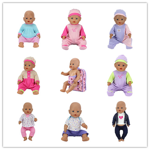 2017 New 8set+Backpack Doll Clothes coat Wear fit 43cm Baby Born zapf, Children best Birthday Gift toys girls Christmas gifts red hat t shirt rompers doll clothes wear fit 18 inch american girl 43cm baby born zapf children best birthday gift n289