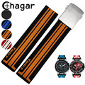 21mm Crude Latex Rubber Watch Band Strap Bracelet Fashion Silicone Watchbands For Tissot T-Race Chronograph T048 Watch Strap
