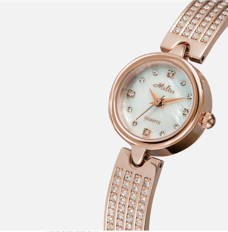 cristais pulseira relógios quartzo natural concha relogios montre femme f8248