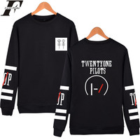 Fashion Style Twenty One Pilots Capless Hoodies Men Brand Designer Mens Sweatshirt 21 Pilots Sweatshirt Men
