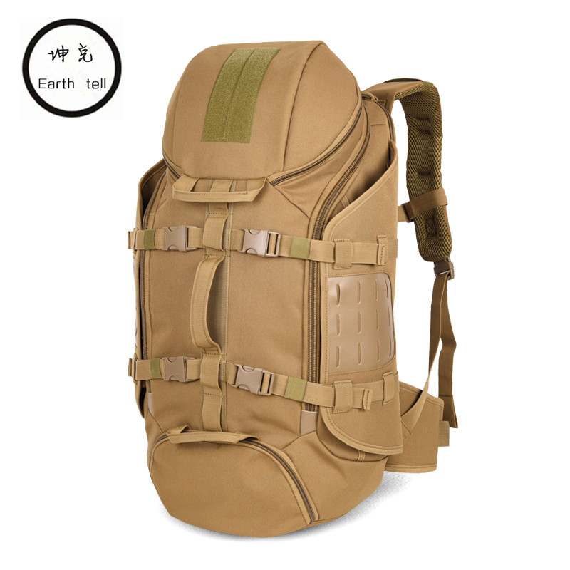 57 L Retro Mountaineering Duffle Bags Camouflage waterproof Bag Large Capacity Military Backpack Travel luggage backpacks цена и фото