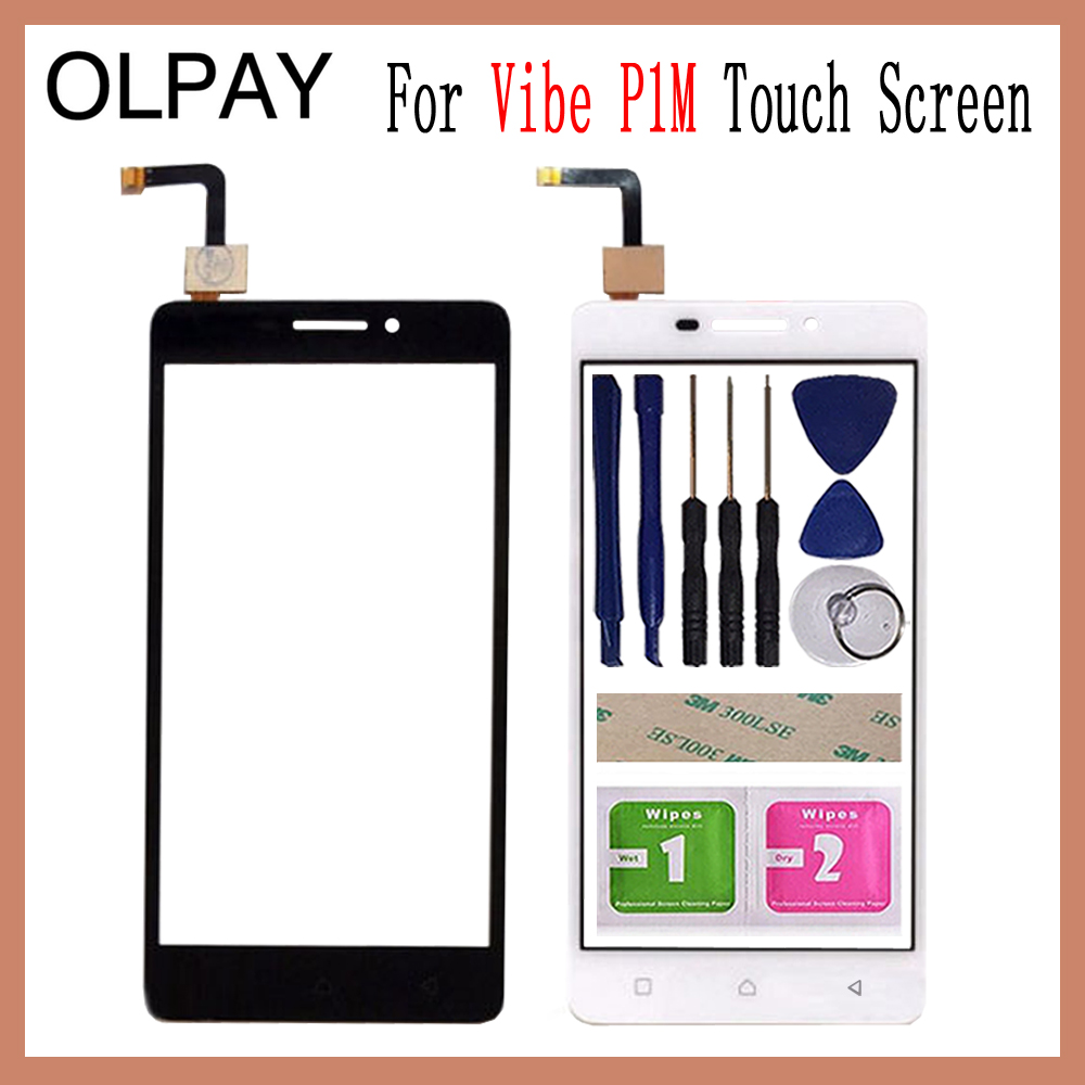 OLPAY 5.0 For Lenovo Vibe P1M a40 P1ma40 P1mc50 Touch Screen Touch Digitizer Panel Glass Tools Free Adhesive And WipesOLPAY 5.0 For Lenovo Vibe P1M a40 P1ma40 P1mc50 Touch Screen Touch Digitizer Panel Glass Tools Free Adhesive And Wipes