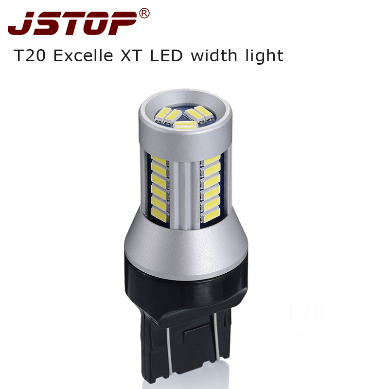 Jstop XT luces ancho 7443 lámpara brillante estupenda 24 V luces diurnas LED 12 V T20 W21/5 w lámpara 4014SMD luz señal bombillas