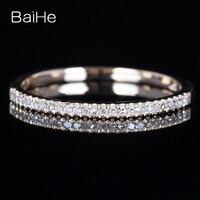 BAIHE Solid 14 К желтый Gold Certified 100% натуральные бриллианты Обручение обручальное кольцо Для женщин ювелирные изделия Изменение размера