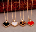 2016  Good Quality Lose Money Promotion  Gossip Girl Serena Red/Black/White Hearts with Love Clover Necklace Wholesales N82