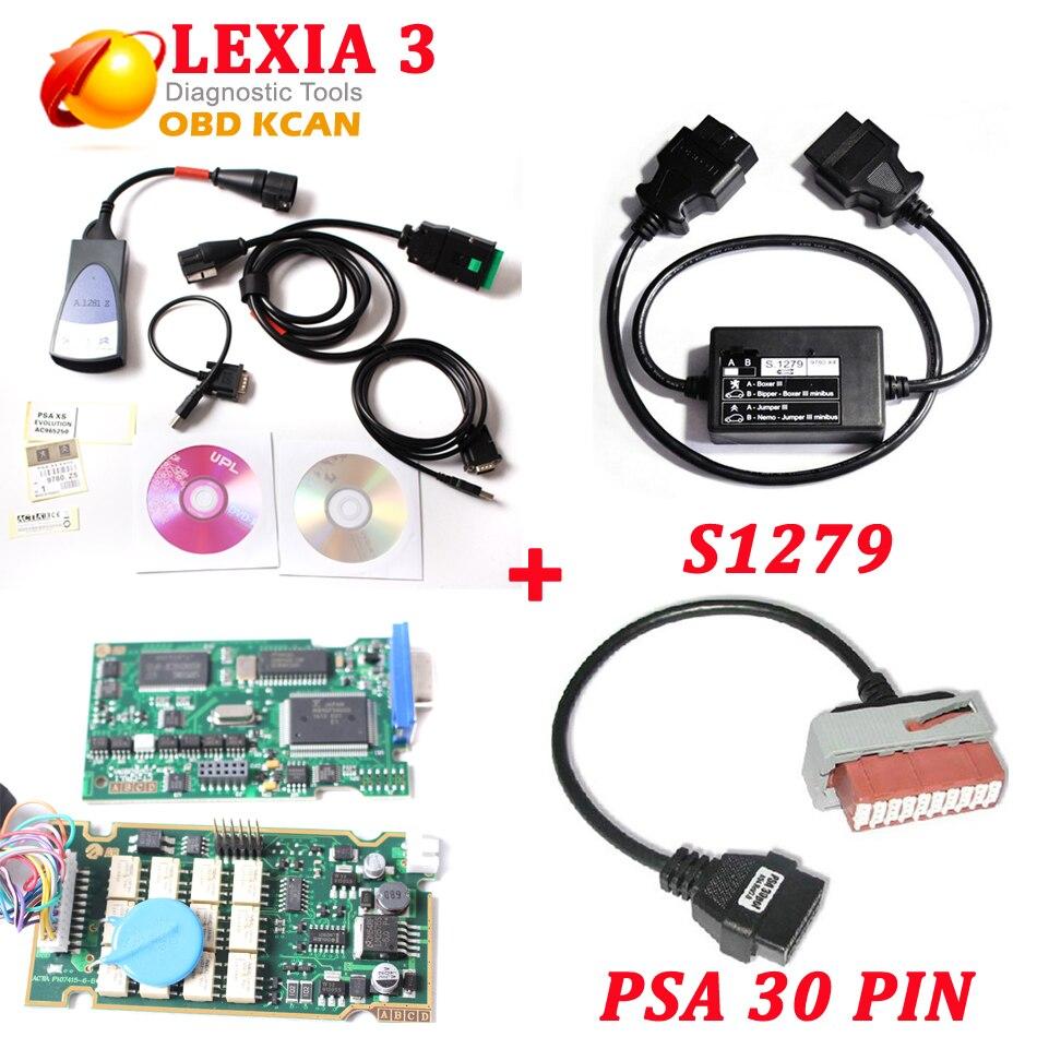 Prix pour Lexia3 PP2000 avec 921815 plein puce Lexia 3 V48 de diagnostic outil Lexia-3 PP2000 V25 lexia Diagbox 7.83 + S1279 + PSA 30 broches câble