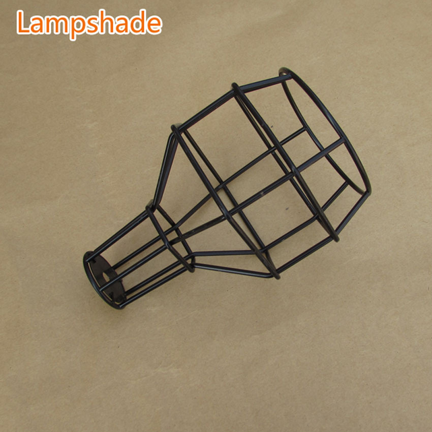Classic Black Nordic Industrial Lamp E27 lampshade, bulb cage for vintage light pendant light/wall light DIY lampshade frled pendant light loft bar nordic classic black bulb wire lamp cage diy lampshade industrial guard shade lamparas