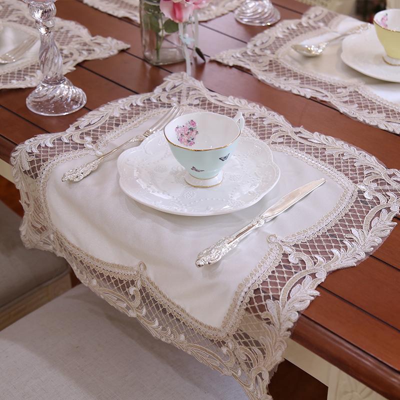 Rechteck küche tischsets Baumwolle Leinen Stoff doppelseitig ...