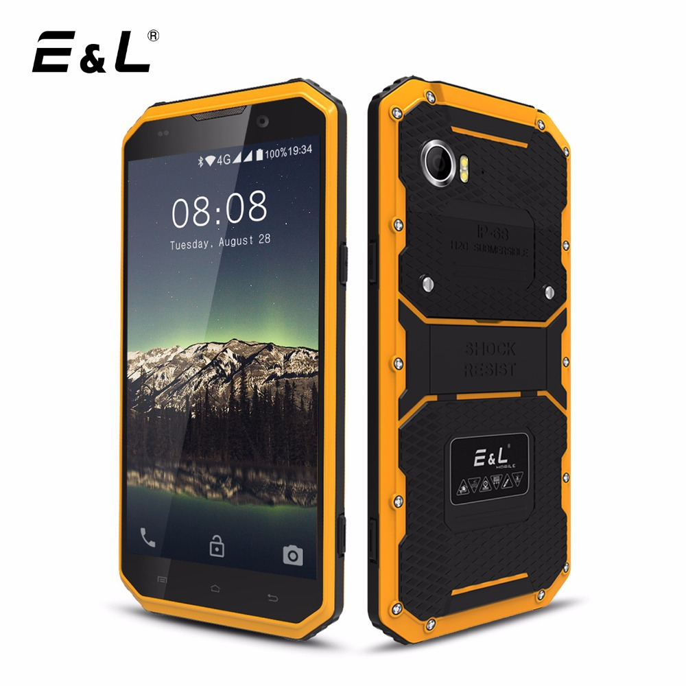 Galleria fotografica E & L W9 Mobile Téléphone Étanche Antichoc Téléphone IP68 Android 6.0 Pouce Octa Core 2 GB RAM 16 GB ROM 4000 mAh Robuste 4G <font><b>Smartphone</b></font>
