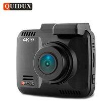 Quidux 4 К Разрешение Super HD Видеорегистраторы для автомобилей 2160 P видео Регистраторы Новатэк 96660 GPS Logger видеокамера 1080 P dashcam Камера ночное видение