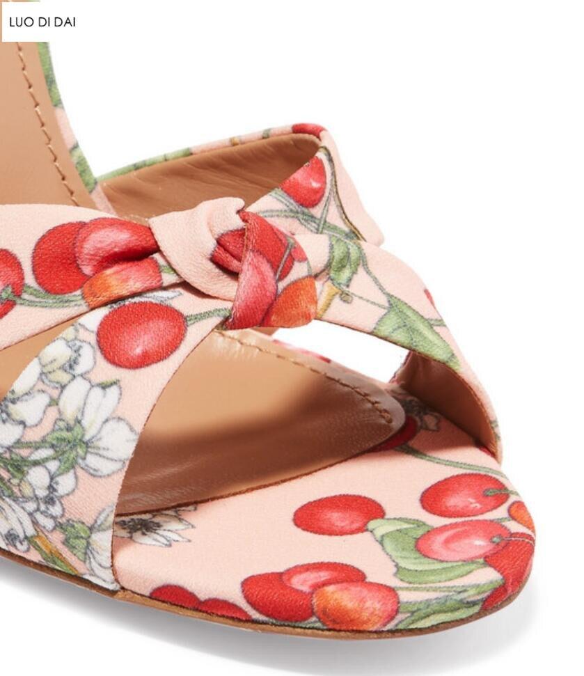 Sandalias As Las Lace Cereza Alta Toe Nuevas Pic Flor Rojo Up Peep Verano 2019 Fiesta Mujeres Tacones Moda De Zapatos Ufdfqwx8