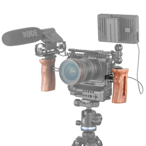 Image 5 - SmallRig kamera Video kolu kavrama sabitleyici evrensel ahşap saplı soğuk ayakkabı dağı ve 1/4 3/8 iplik delik 2093