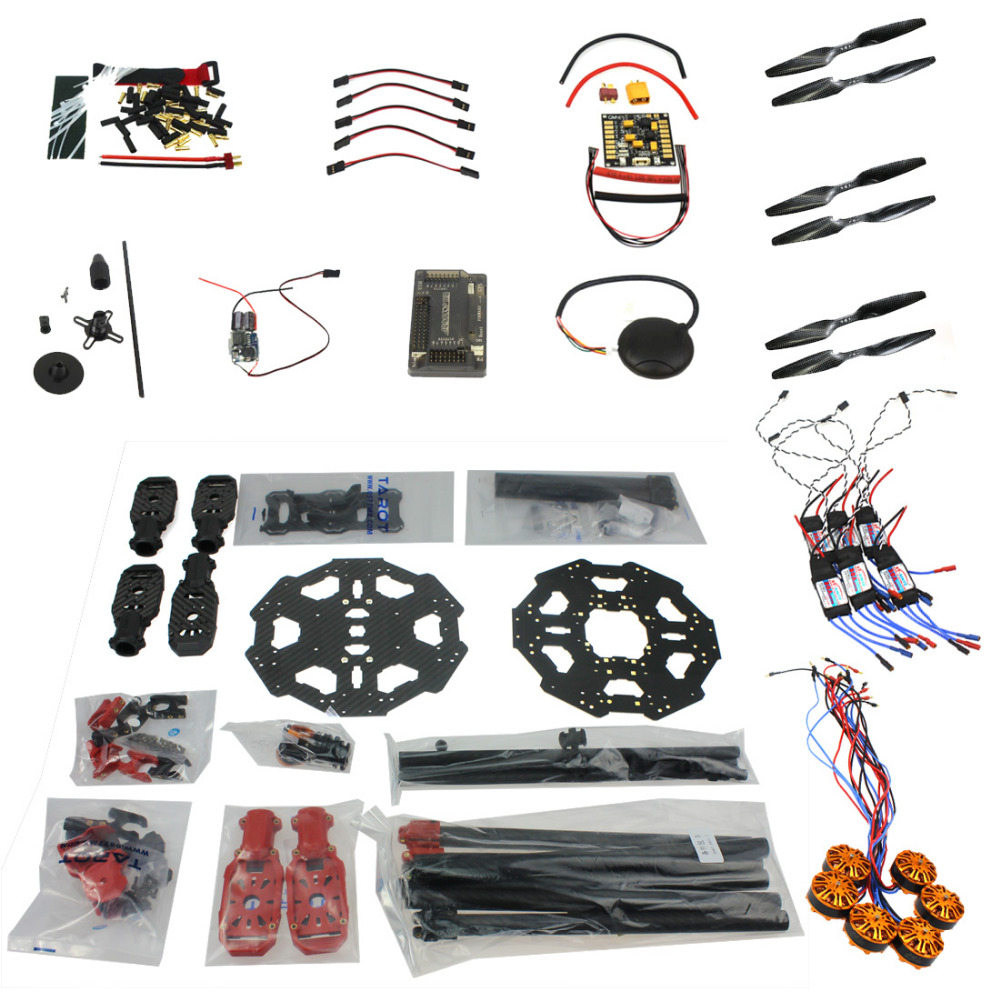 F07807-B Helicopter Drone  Aircraft Kit Tarot 680PRO Frame 700KV Motor GPS APM 2.8 Flight Control No Battery Transmitter f11859 f full set drone quadrocopter aircraft kit 300h 300mm frame 6m gps apm 2 8flight control flysky fs i6 transmitter