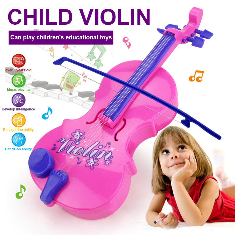 Simulation Violin Toy 4 Strings Musical Instruments Educational Gift For Children Kids @ZJF