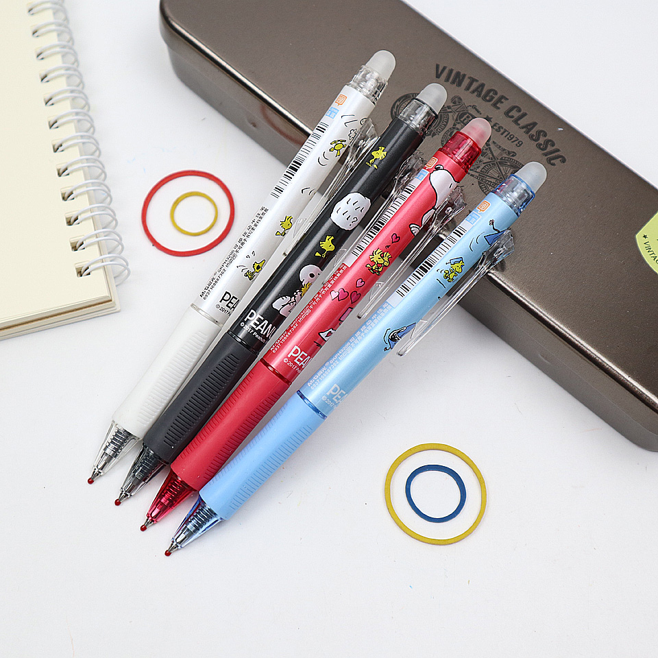 4pcs Kawaii Small Fresh Style Erasable Gel Pen 0.5mm Nib Black And Blue Ink Student School Magical Writing Neutral Pen Gift Pen g 3126 kawaii small fresh style erasable gel pen refills is blue ink and black ink a magical writing neutral pen 4pcs lot