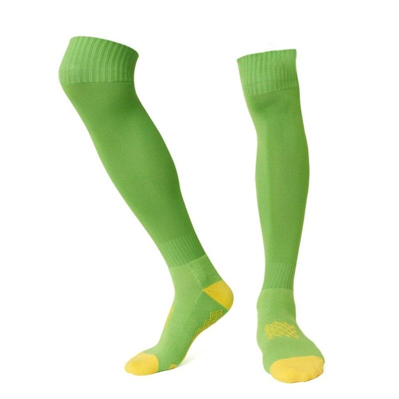 Эпоксидные Нескользящие амортизаторы дышащие полотенца спортивные Чулочно-носочные изделия на открытом воздухе мягкие эластичные влагостойкие спортивные футбольные высокие носки - Цвет: Зеленый