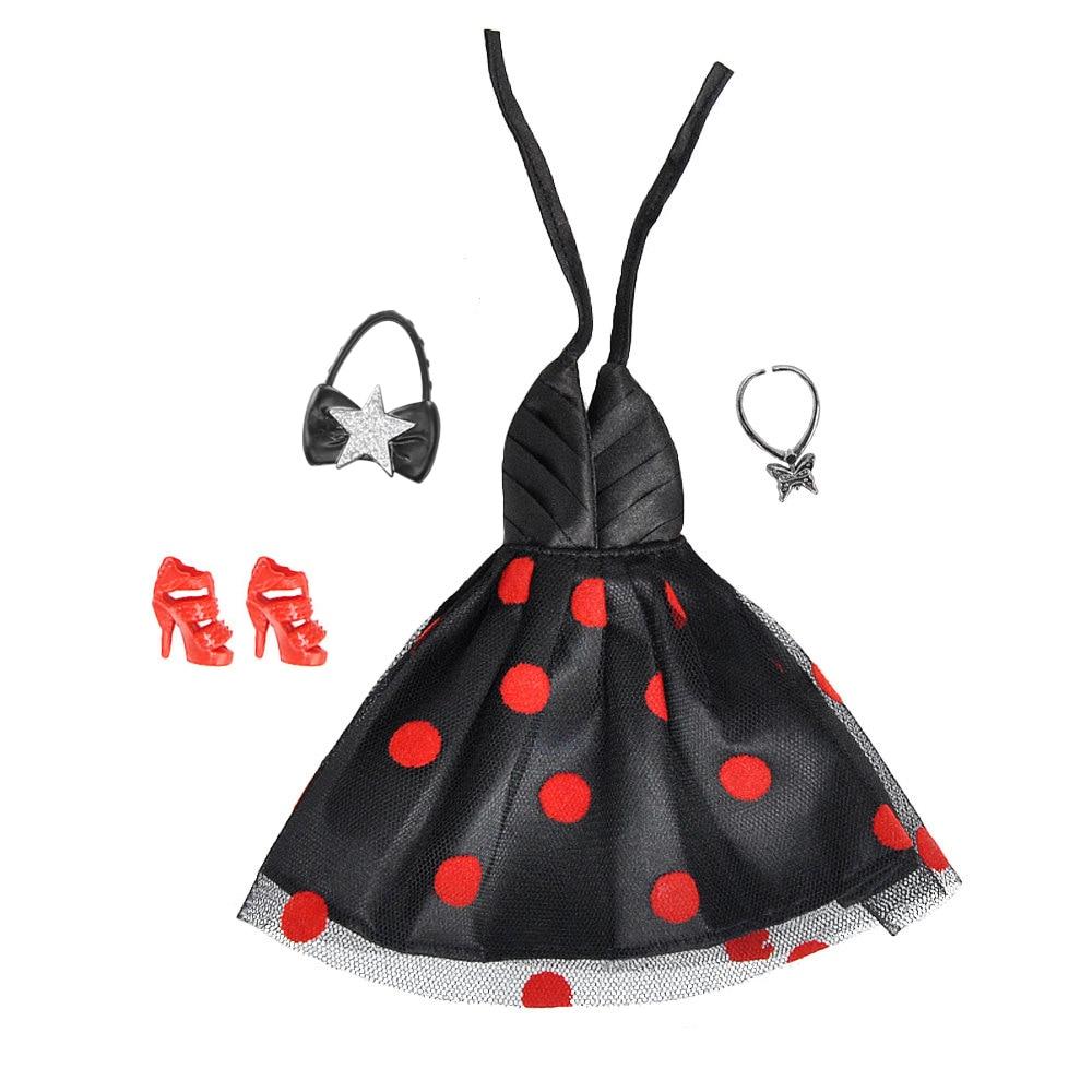 E-TING Nouvelle Arrivée 1/6 Poupée Vêtements Fantaisie Fait Main Western-style Robe Sac À Main Papillon Collier Chaussures Pour Barbie Accessoires