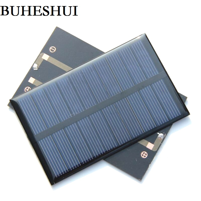BUHESHUI 5V 1.2W Polycrystalline Epoxy Solar Panel Module Solar Cell DIY Solar Charger For 3.6V Battery 110*69*3MM Free Shipping