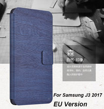 For Samsung Galaxy J3 2017 /J3 Pro Case PU Leather Stand Wallet Flip Phone Bag For Cover Samsung J3 2017 SM-J330F telefoonhoesje(China)
