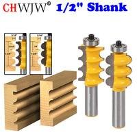 Triple Bead Triple Flute 2 Bit Large Molding Router Bits Set Chwjw 16260