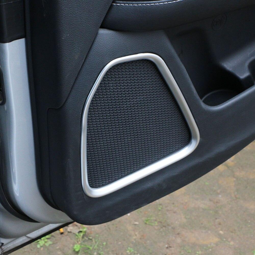 Interior Door Sound Speaker Cover Moulding Trim For Jeep Renegade 2015 2016 2017