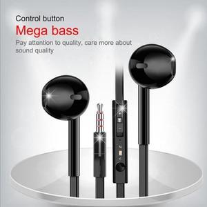 Image 2 - EARDECO Flat Wire In Ear Earphones Headphones Bass HiFi Earbuds Wired 3.5mm Earpiece Phone Earphone Headset with Mic Auriculare