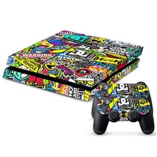 Fashion Bombing Graffiti Sticker Skins For Sony for PS4 Playstation 4 Console 2 Controller Gift