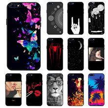Ojeleye Fashion Black Silicon Case For Huawei Y7 Pro 2018 Cases Anti-knock Phone Cover Covers