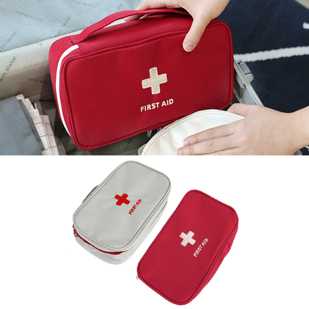 Multifunctional Home Office Portable Handheld Medical Bag First Aid Pattern Medicine Storage Bag Organizer