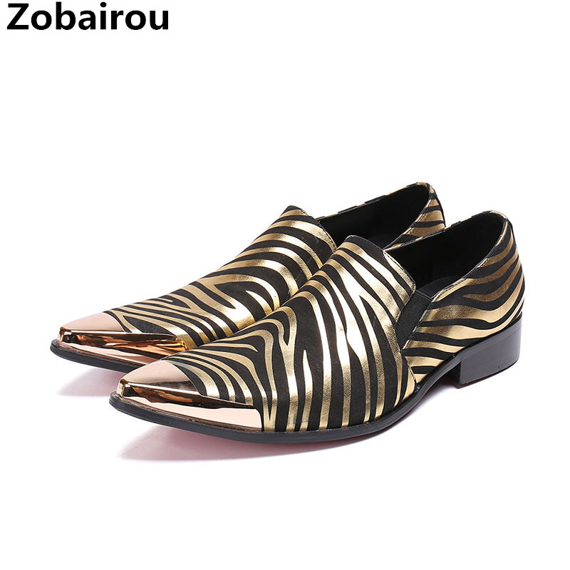 New arrival chaussures hommes striped gold dress shoes men genuine leather steel pointed toe flats luxury italian loafers size47New arrival chaussures hommes striped gold dress shoes men genuine leather steel pointed toe flats luxury italian loafers size47
