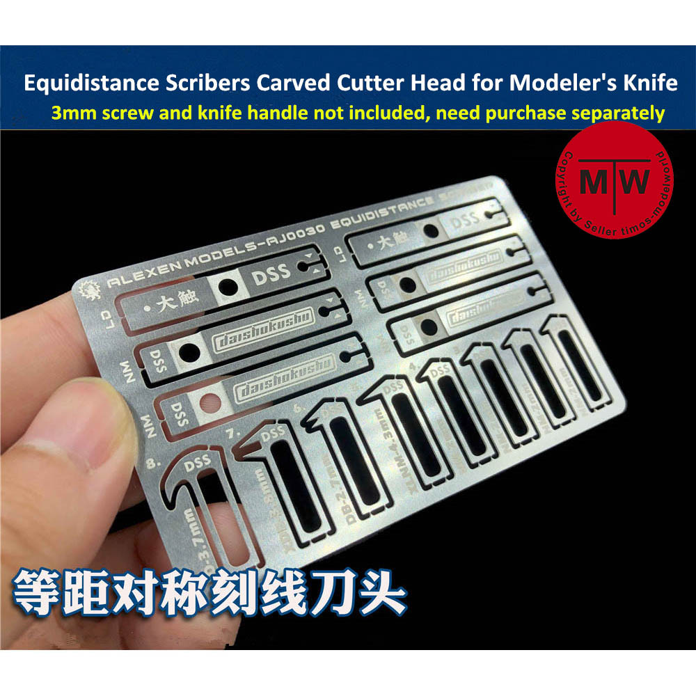 Equidistance Scribers Symmetrical Engraving Surface Groove Carved Cutter Head 8 In 1 Tools For Gundam Military Model Hobby Kit