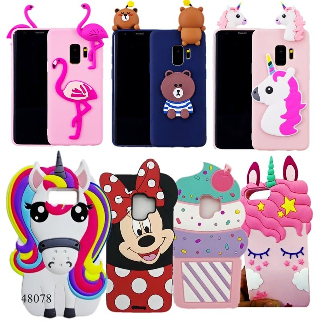 buy popular 6b1ba 3d0bc US $2.27 5% OFF|Case For Samsung S9 Plus Cute 3D Cartoon Minnie Mouse  Unicorn Soft Silicon Back Cover Case For Samsung Galaxy S9 / S9 Plus-in  Fitted ...