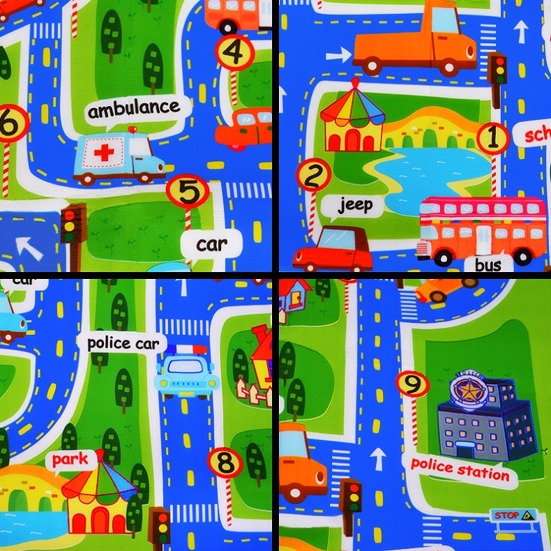 Town Road Baby Play Mat Kids Climbing Pad Children's Toys Gym Game Kids Rug  Carpet Play 4 Traffic Street Soft Floor