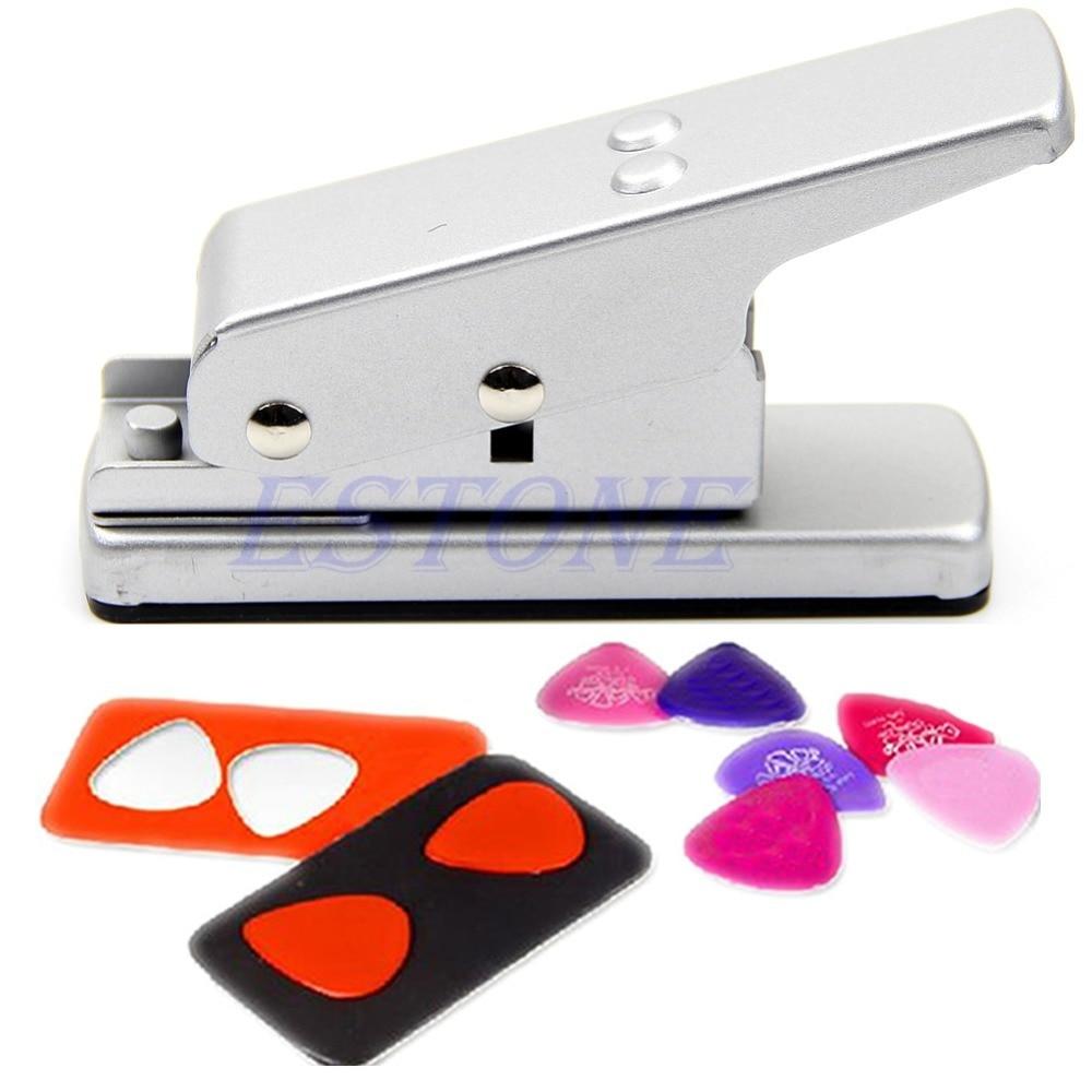 Hot!! Silver Professional Guitar Plectrum Punch Picks Maker Card Cutter DIY Own Pick S