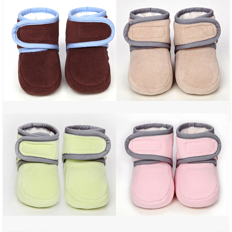 ФОТО lovely winter warm baby shoes cotton padded infant toddler baby boys girls boots soft newborn bebe first walkers  cotton shoes