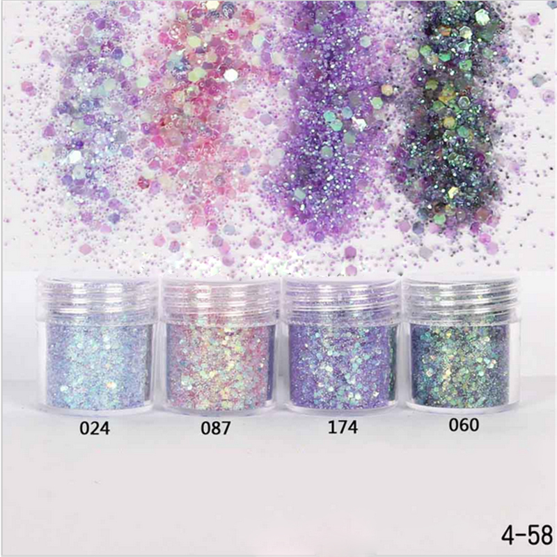 Clever 10 Ml Lila Pailletten Nagel Glitter Pulver Pailletten Für Nagel Design Lametta Flake Brillantine Pulver Für Nail Art Glitter Staub Schönheit & Gesundheit