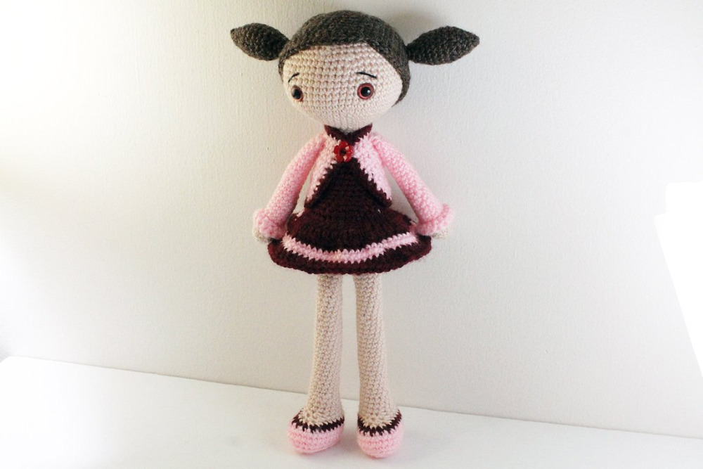 Crochet Toys  Amigurumi  Playful Girl   Model Number KO0020