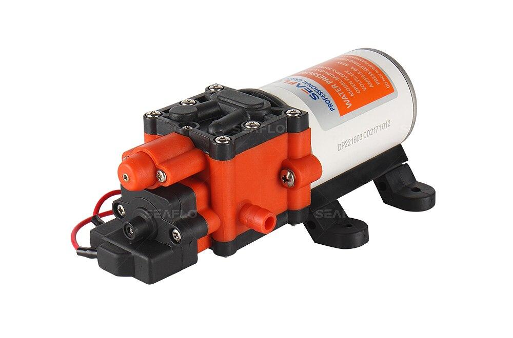 SEAFLO Diaphragm Pump 12v 1.3GPM 5.0LPM 100PSI 6.9BAR Solar Water Pump For Fountain Electric Pump Marine RV Boat