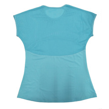 Mesh Breathable Yoga Shirts Tops Women Quick Dry Fitness Sports T Shirt