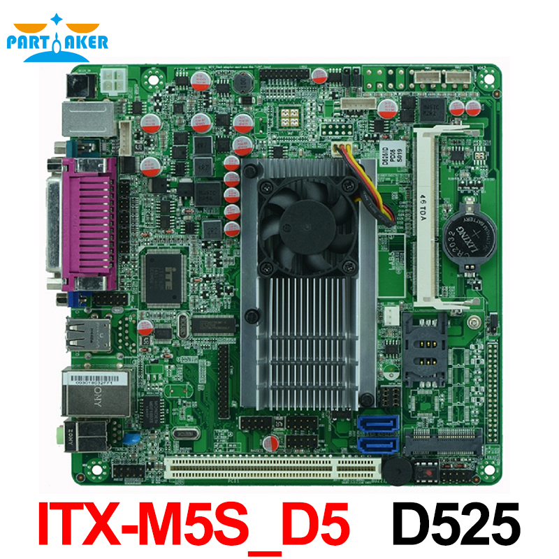Mini Itx industrial motherboard D525 DC12V 5*COM Single 18bit LVDS POS Machine Industrial Motherboards ITX-M5S_D5 used original for onda h81ipc one machine mini itx mini industrial motherboard 12v msata lvds com usb3